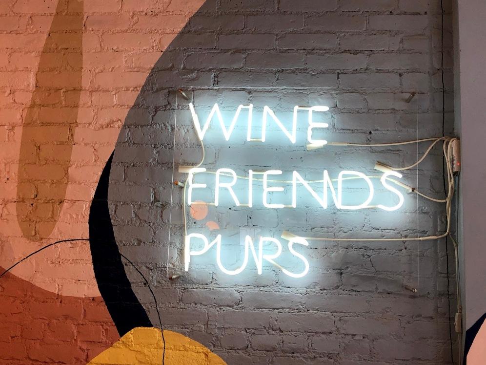 wine friends pups