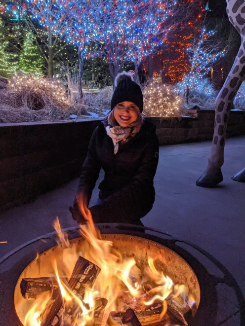 Staying warm with the fire pits at the Electric Zoo